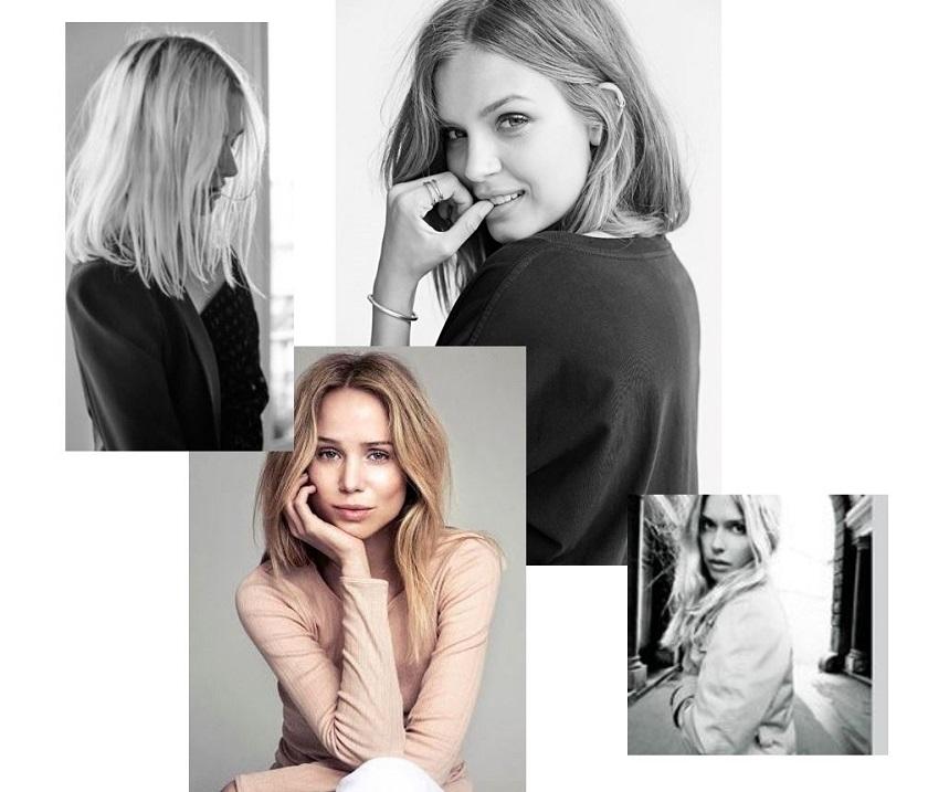 Skandinavierinnen wie Josephine Skriver setzen auf eine natürliche Mähne und dezentes Make Up , bei denen sie nur die Augen betonen.