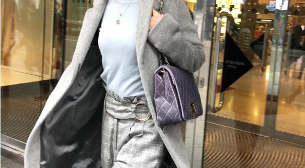 Meine Hose von Moori berlin im Karo-Muster ist immer eine super Grundlage für ein Outfit
