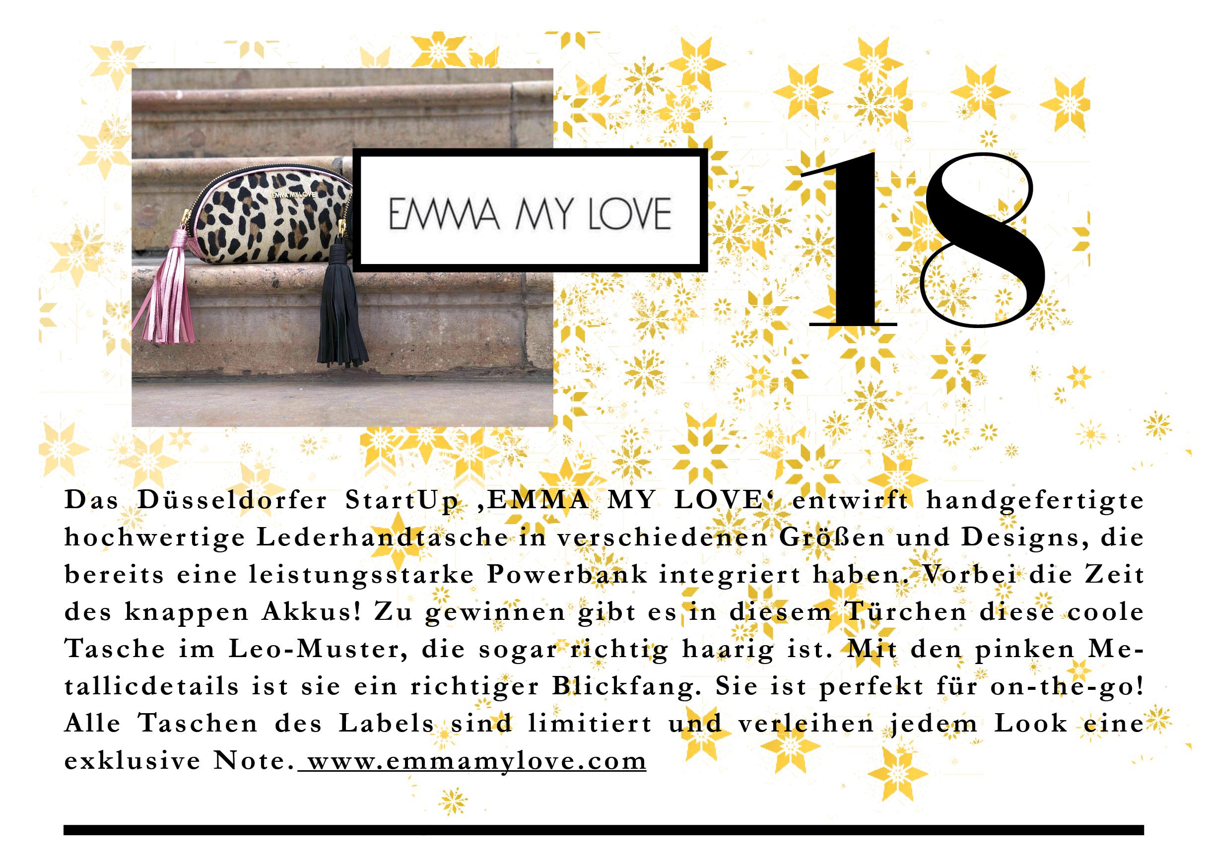Die stylischen Taschen von EMMA MY LOVE haben richtig Power in sich.