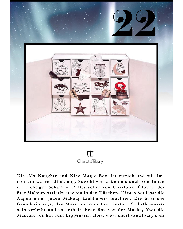 Der 12 tägige Christmas Adventskalender von Charlotte Tilbury