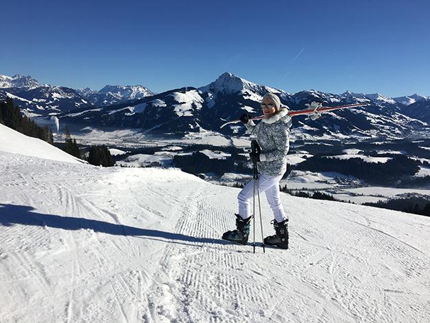 Die Berge in Kitzbühel sind einfach perfekt zum Skifahren.