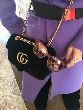 Ich liebe meinen Mantel von Sandro in Ultra Violett